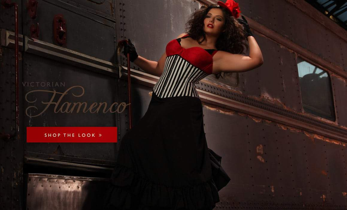 Hips and Curves Plus Size Halloween Look Book: victorian-flamenco