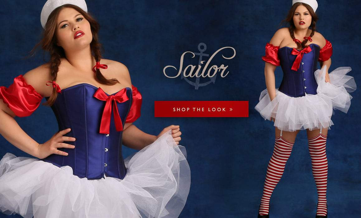 Hips and Curves Plus Size Halloween Look Book: sailor
