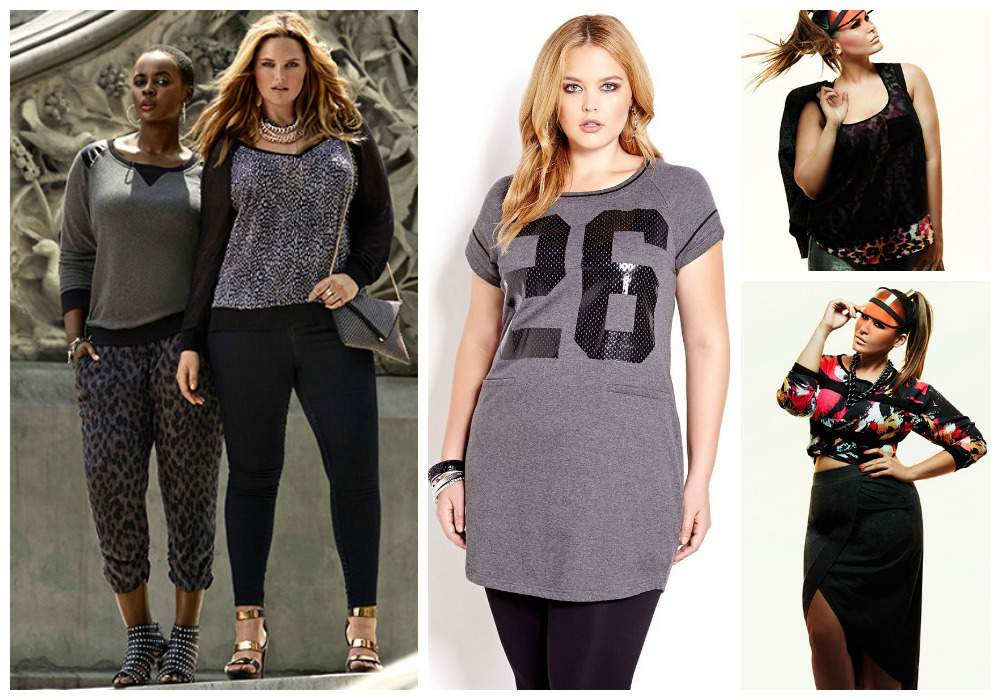Plus Size Fall trends: sporty