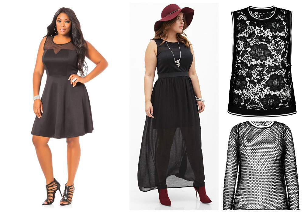 Plus size fall trends- sheer and lace