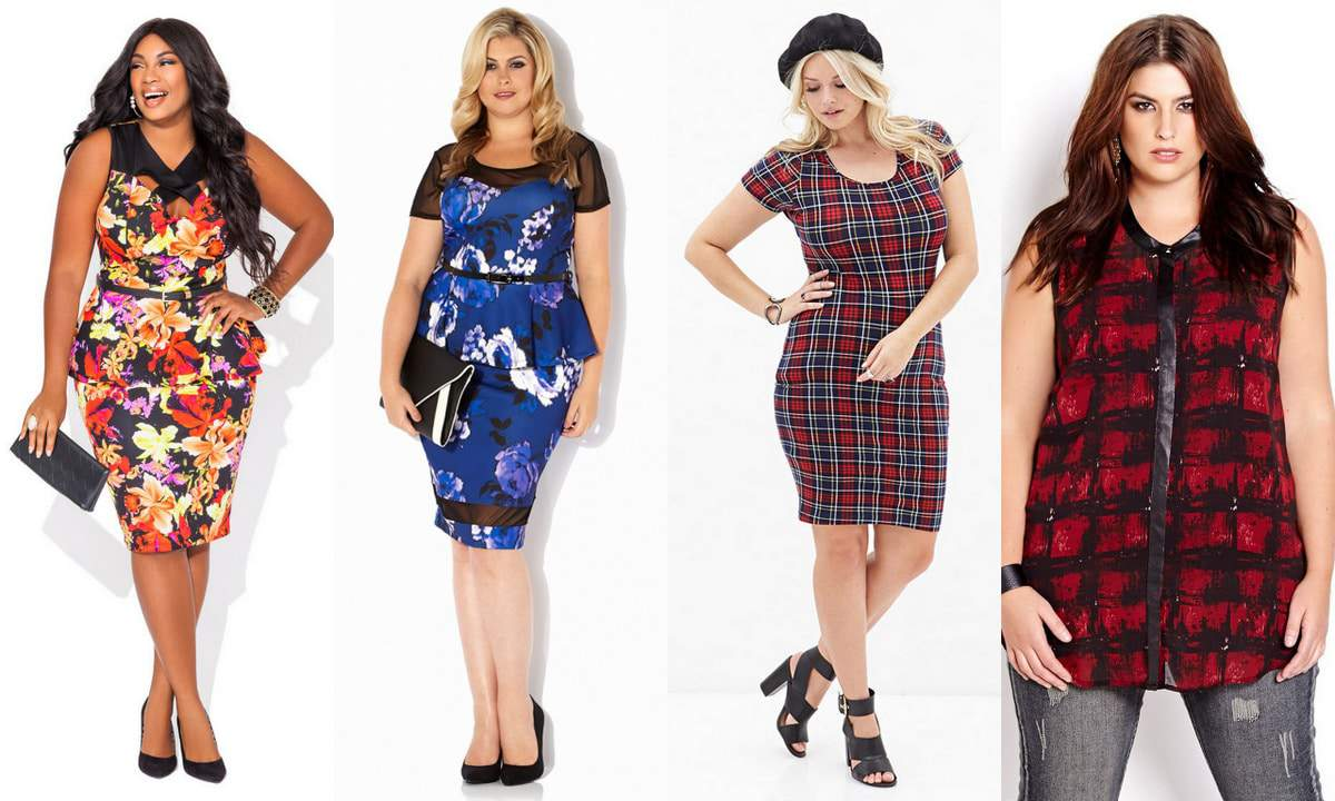 Plus size fall trends- floral and plaid