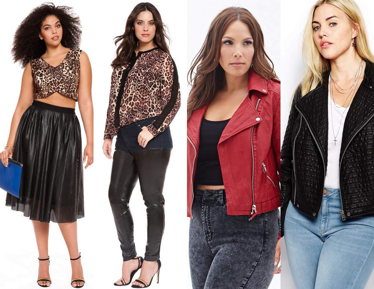 Plus size fall trends- leather