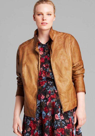 BB Dakota Plus Janeen Faux Leather Jacket