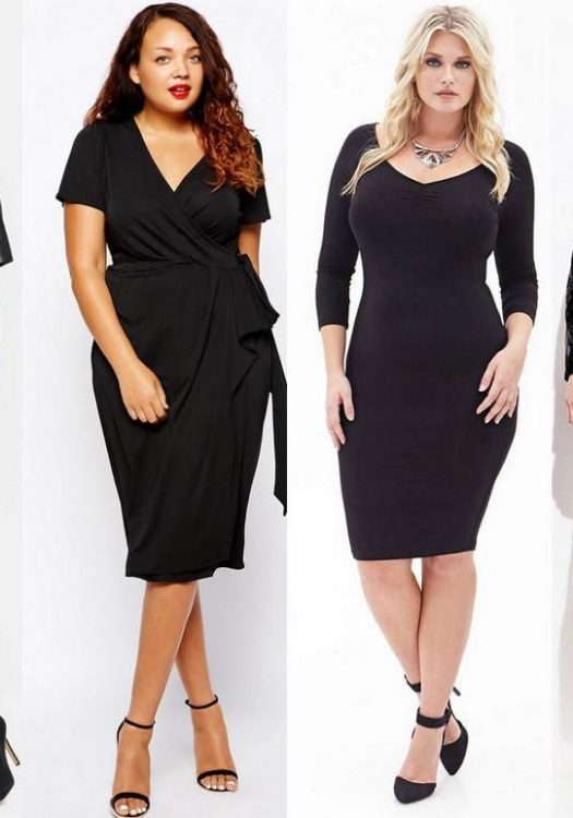 Plus Size Little Black Dress for Fall