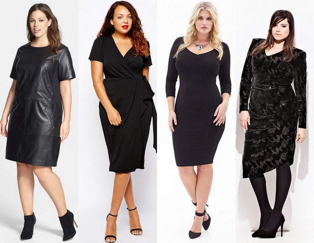 Plus Size Little Black Dress for Fall