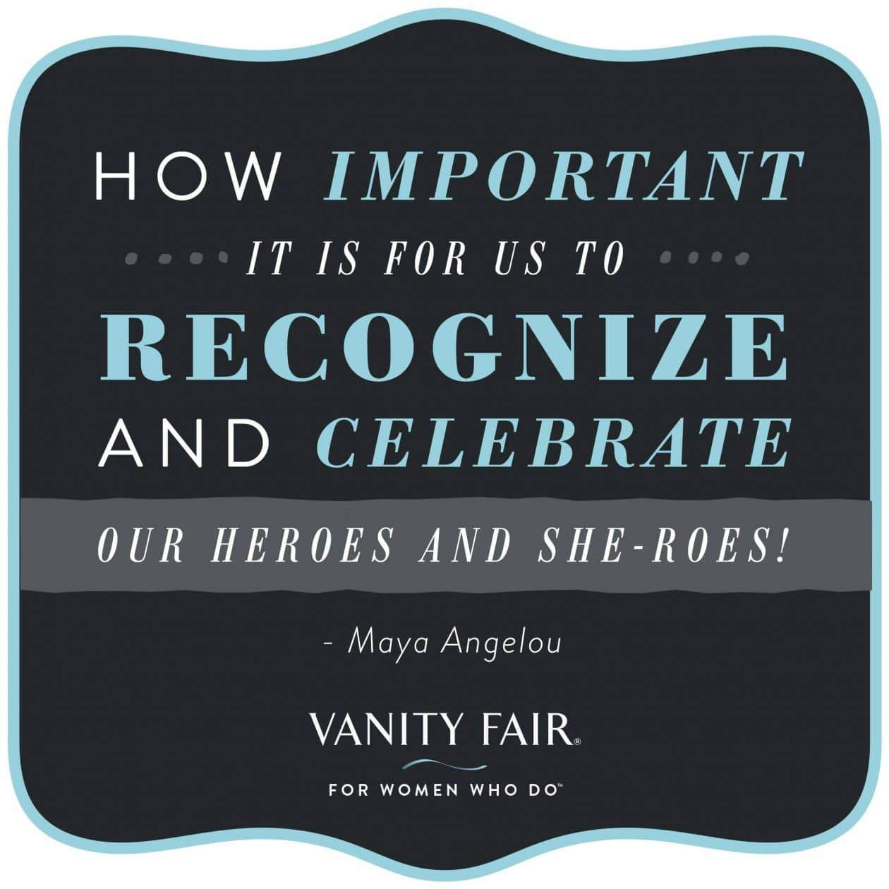 Vanity Fair for women who do campaign