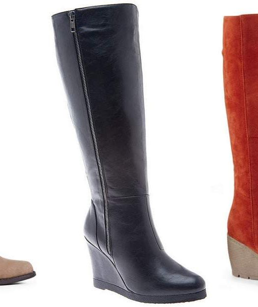 7 Pair of Wide Calf Boots Under $100