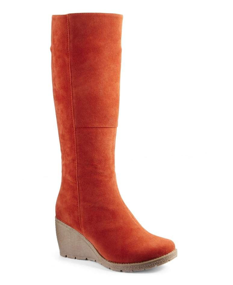 NATURE'S OWN HIGH LEG WEDGE Wide Calf BOOT at Simply Be