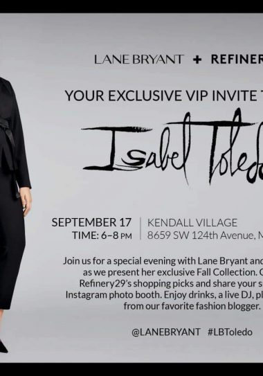 Join me in Miami for the Isabel Toledo and Lane Bryant EVENT