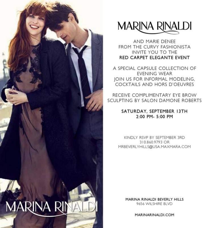 Marina Rinaldi Elegante Red Carpet Collection Event