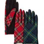 Bloomingdale's Plaid Tech Gloves