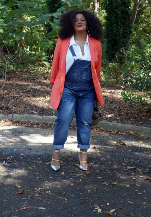 My Style: Over it All for Fall-Plus Size Overalls on The Curvy Fashionista