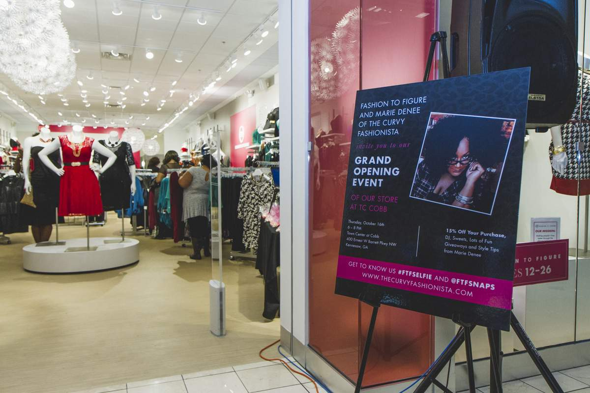 Fashion to Figure TC at Cobb Grand Opening hosted by The Curvy Fashionista
