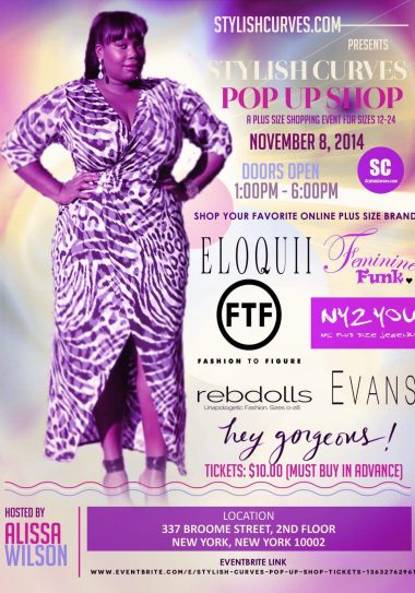 Plus Size Blogger, Alissa Launches the Stylish Curves Pop Up Shop