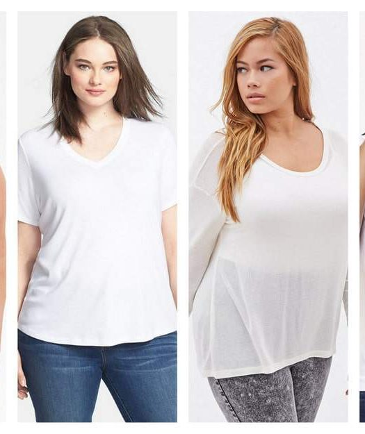 TCFStyle Q+A: White Plus Size Layering Tees for Fall