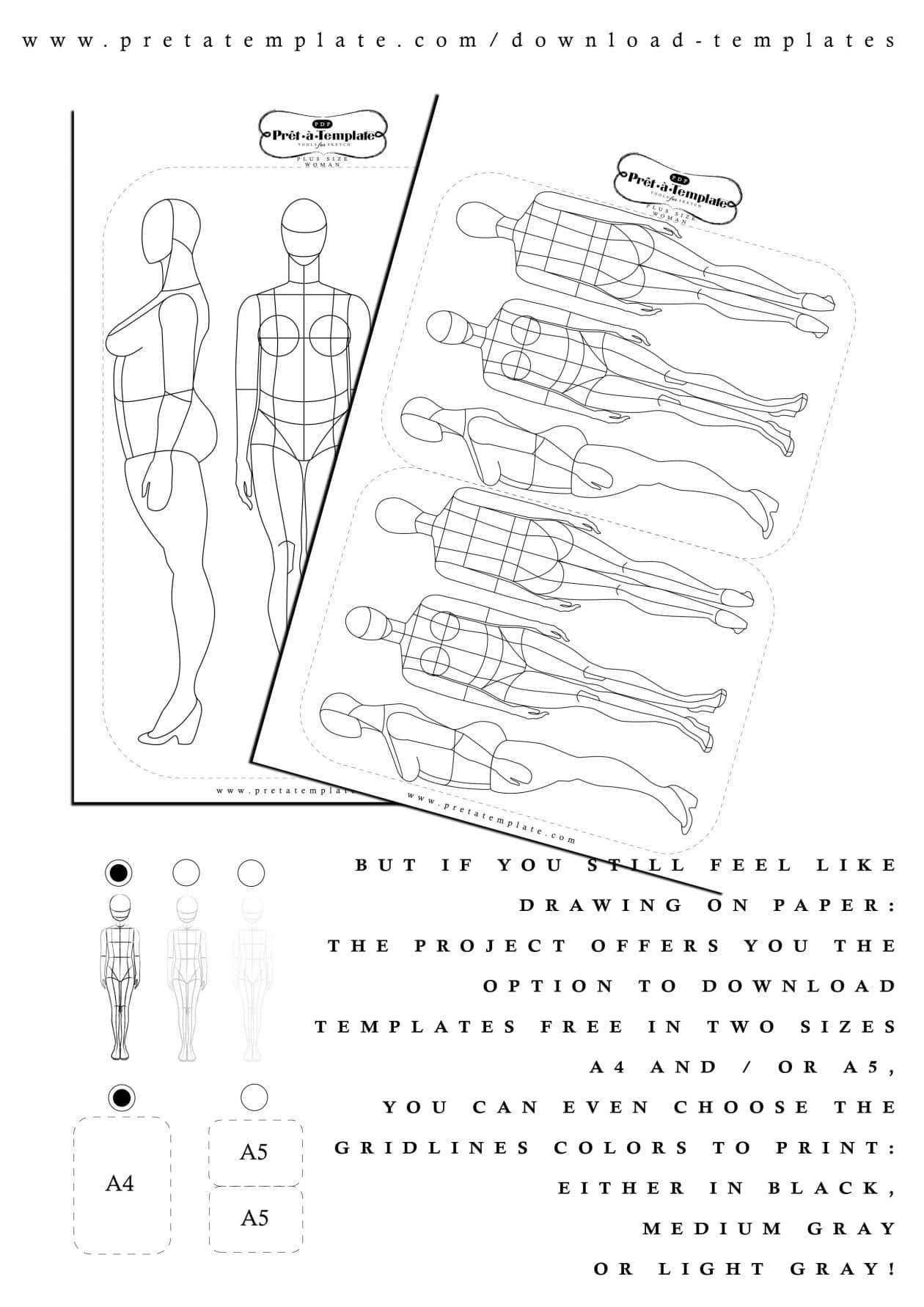 Prêt-à-Template- Your Plus Size Fashion Sketch App  on The Curvy Fashionista