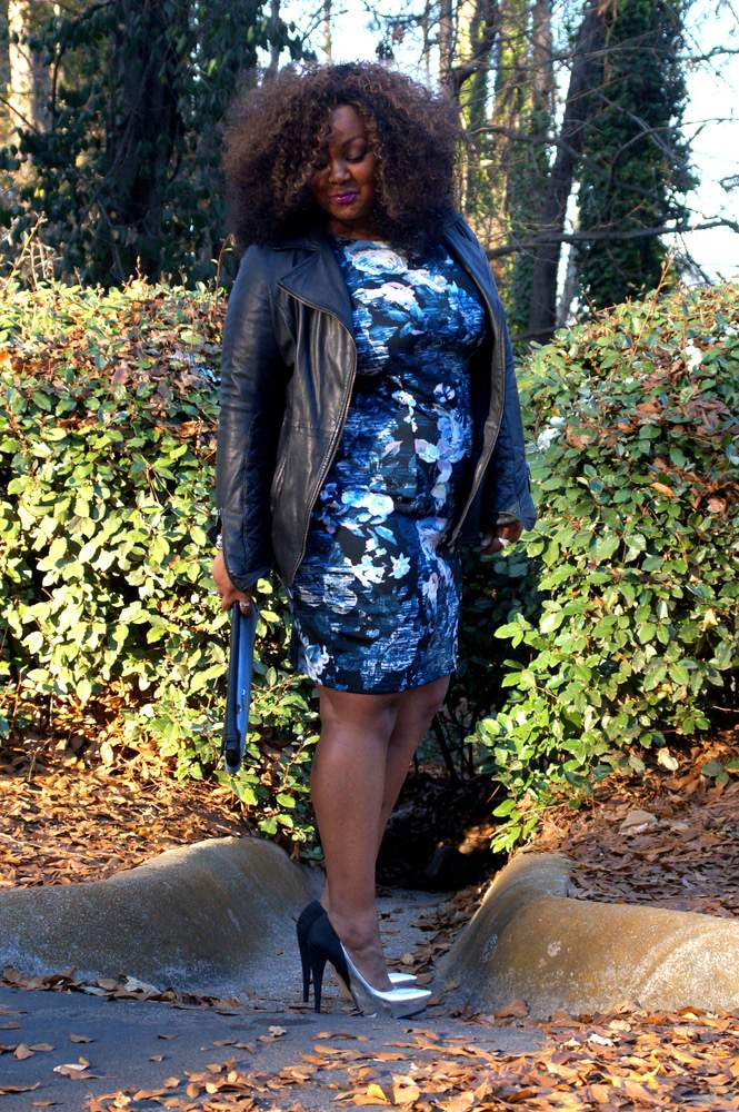 My Style- Marie Denee in Simply Be Floral Plus Size BodyCon Dress