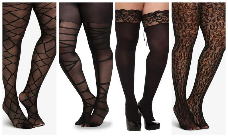 Plus Size Tights on The Curvy Fashionista