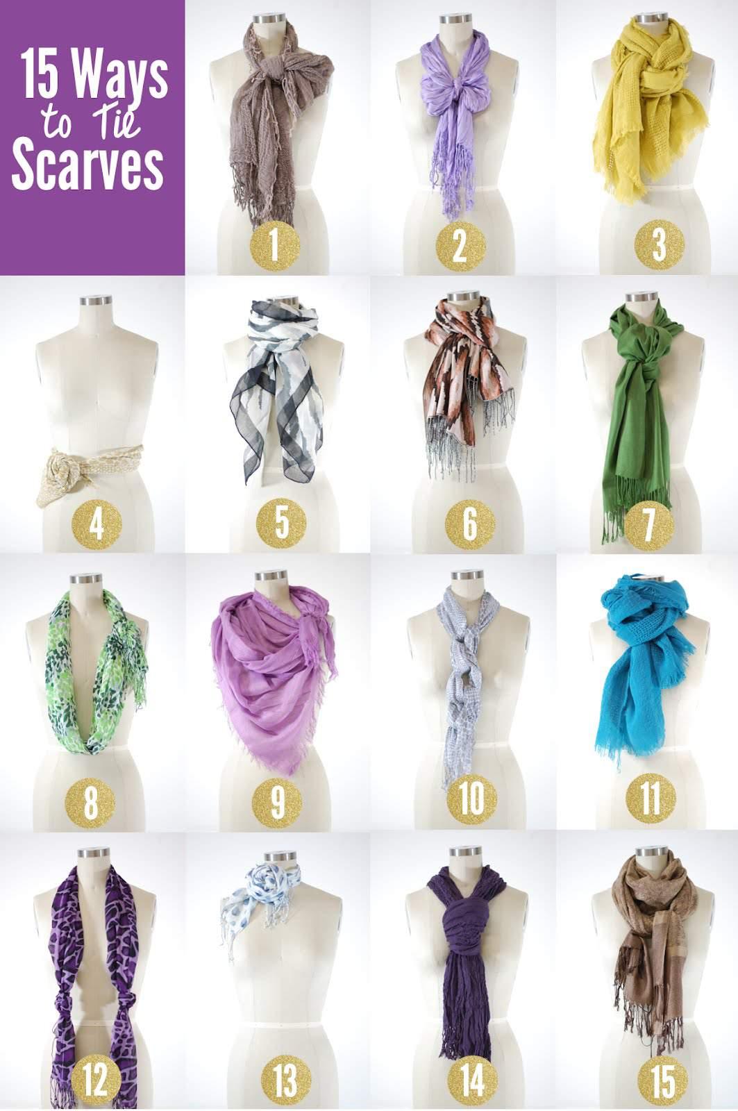 15 Ways to Tie a Scarf on The Curvy Fashionista
