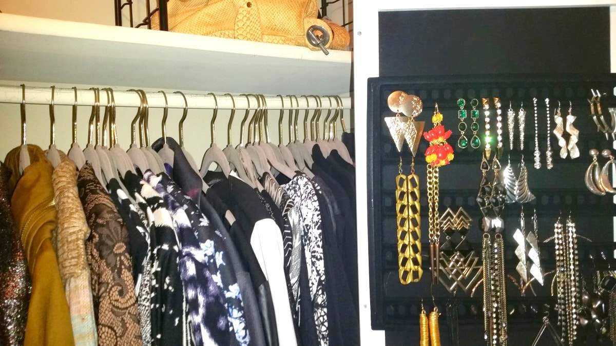 Inside My Closet: My New Wall Mount Jewelry Armoire