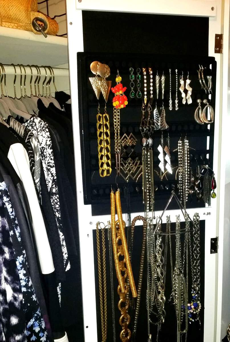 Inside My Closet: My New Wall Mount Jewelry Armoire