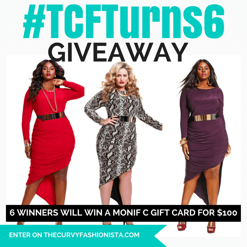 TCFTurns6 Giveaway with Monif C Plus Sizes