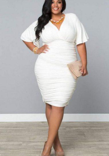 Kiyonna Rumor Ruched Dress