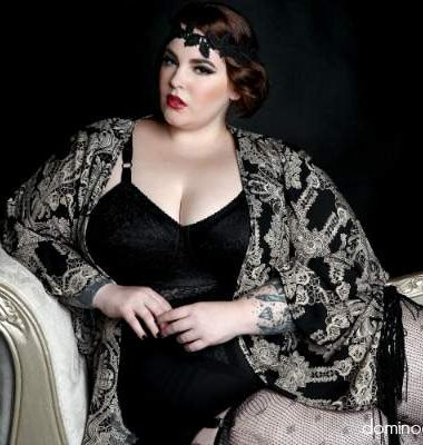 First Look: Domino Dollhouse Vintage Valentine Featuring Tess Holliday