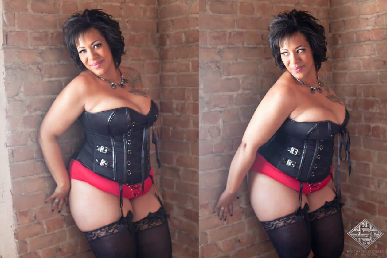 Plus Size Boudoir Photography by STephanie Stewart on The Curvy Fashionista