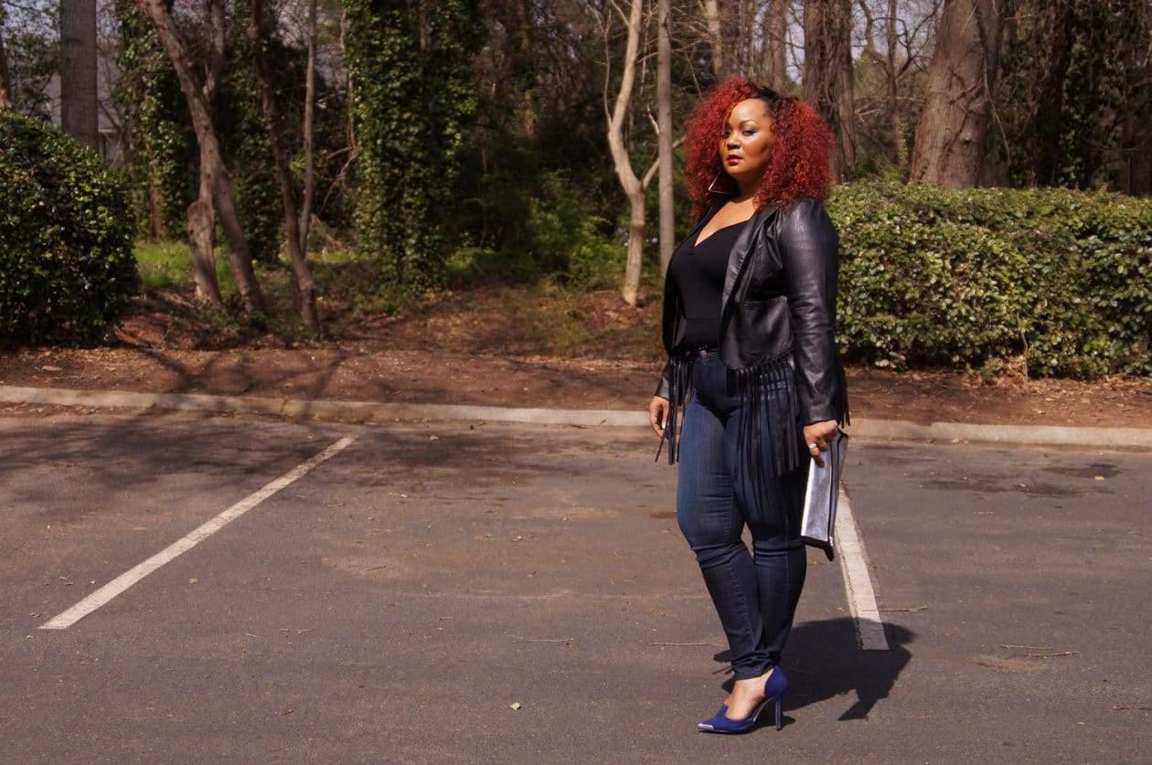 Marie Denee's Style: Plus Size Leather and Denim on TheCurvyFashionista.com