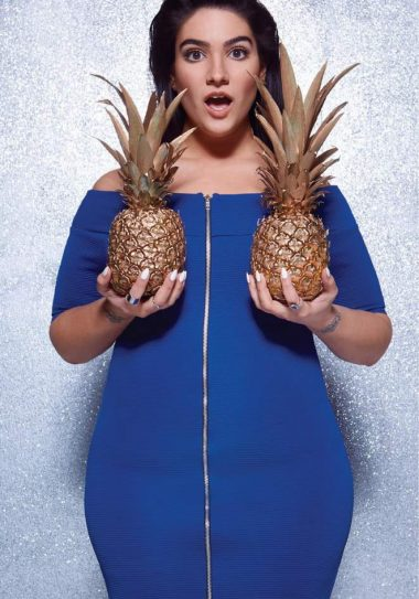 Nadia Aboulhosn x Boohoo Plus Size collection on TheCurvyFashionista.com