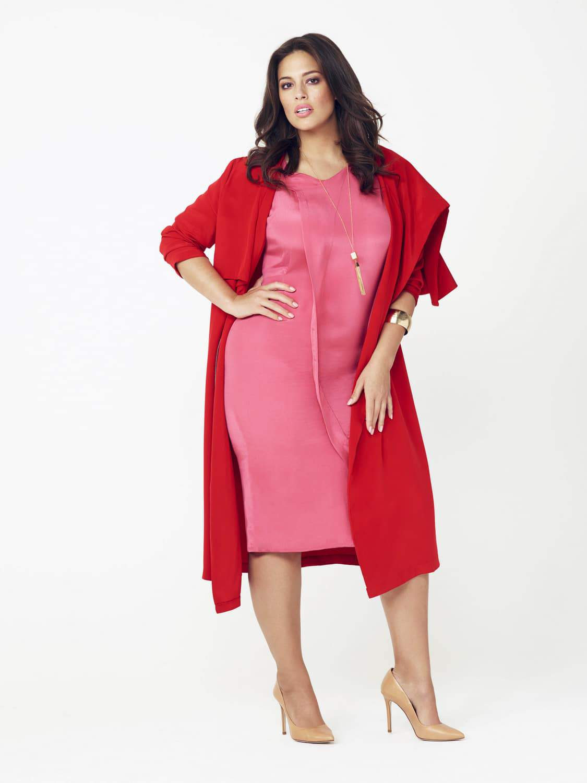 Lulu Liu Plus size coat by Evans on TheCurvyFashionista.com