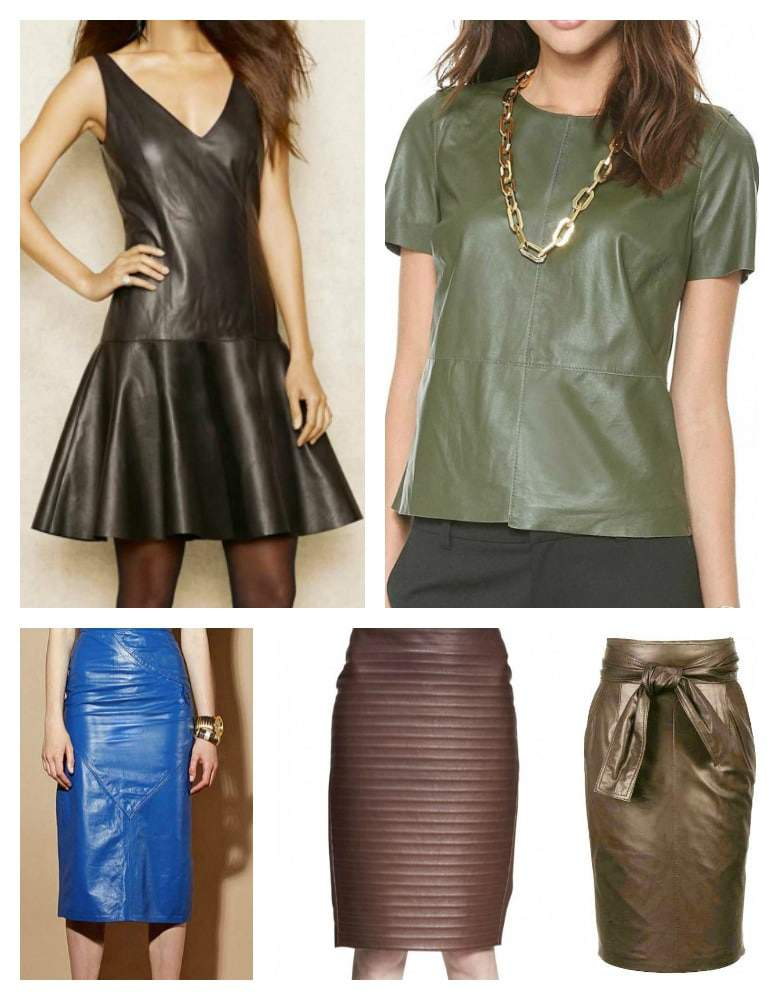 Spring 2015 Plus Size Leather and Suede