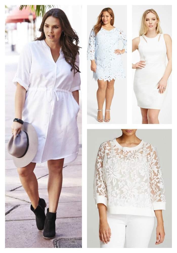 Spring 2015 All White Plus SIze Fashion on TheCurvyFashionista.com