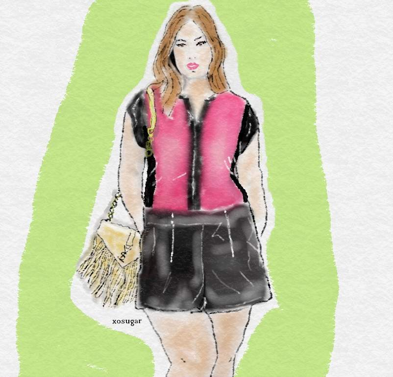 Spring 2015 Plus Size Trends- Spring Suede and Leather