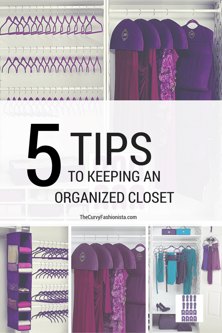 5 Tips to Keeping an Organzed Closet on The Curvy Fashionista