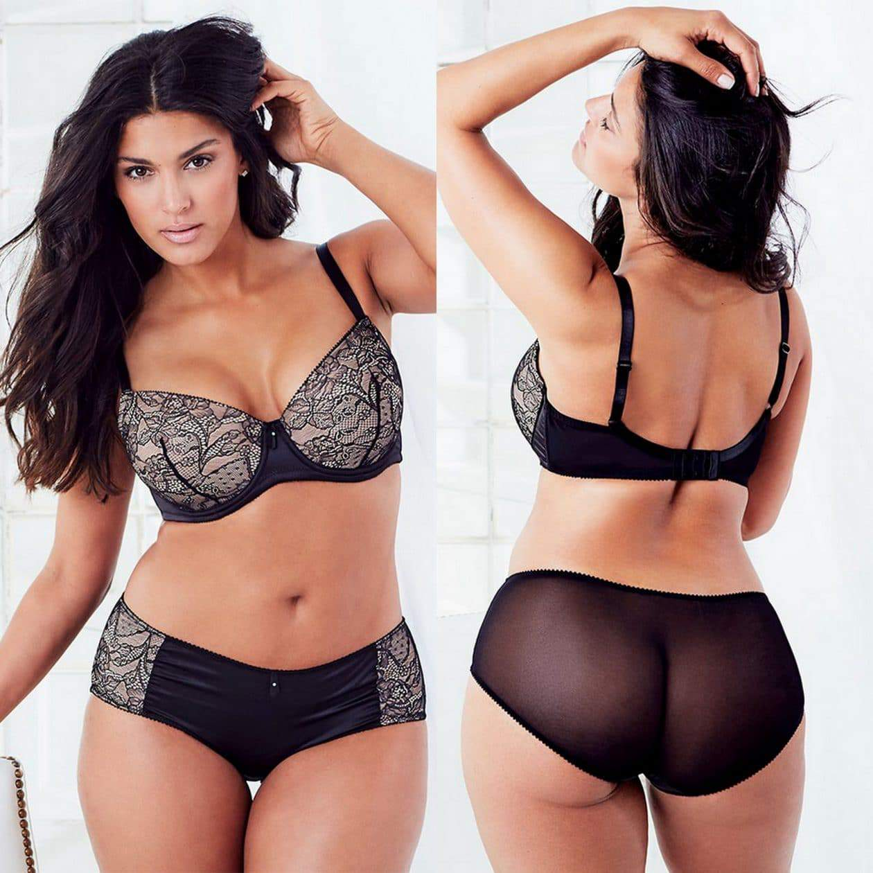 First Look at the Plus Size Lingerie at Adore Me on TheCurvyFashionista.com
