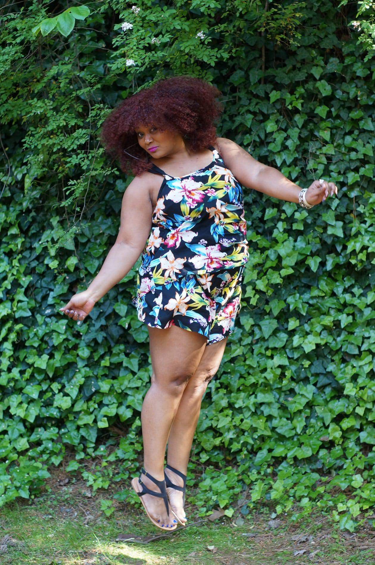 My Addition Elle Tropical Two Piece Set on The Curvy Fashionista, Marie Denee