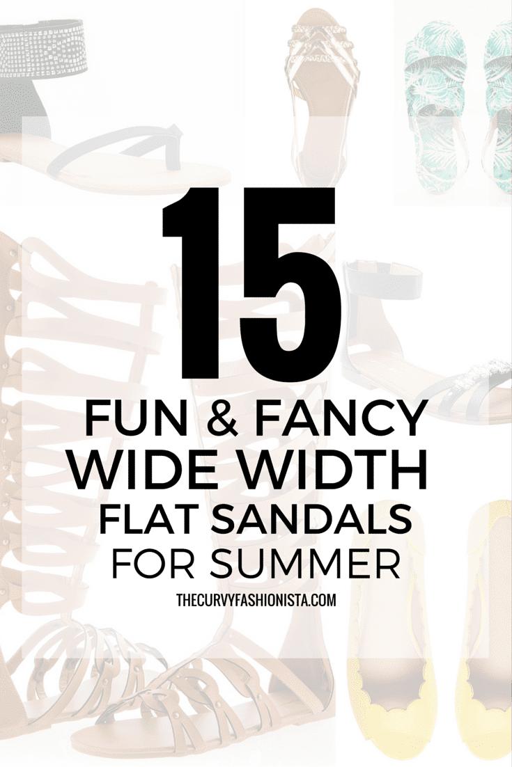 15 Fun & Fancy Wide Width Flats for Summer On The Curvy Fashionista