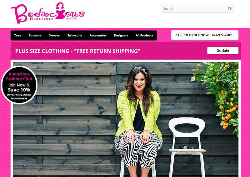 Five Plus Size Boutiques to Keep Your Eye On- Bodacious Boutique on TheCurvyFashionista.com