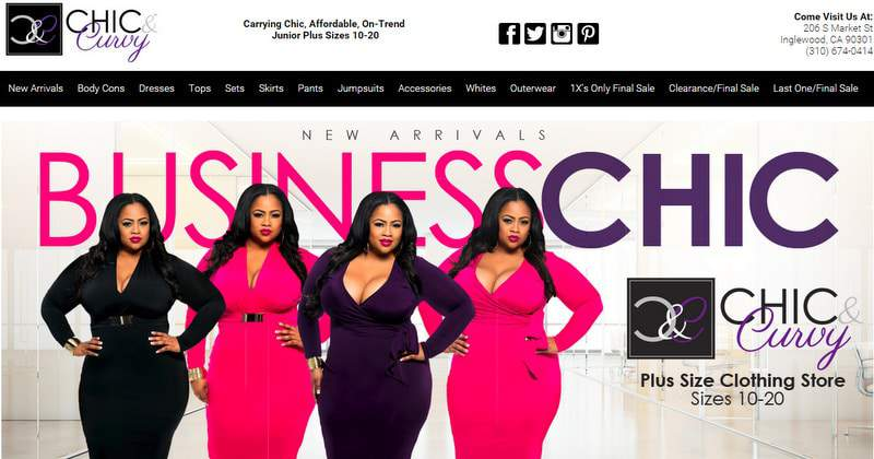 Five Plus Size Boutiques to Keep Your Eye On- Chic and Curvy Boutique on TheCurvyFashionista.com