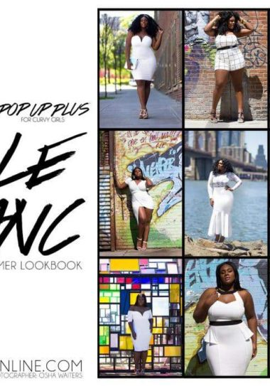 "The Pop Up Plus ""Le Blanc Collection"" on TheCurvyFashionista.com"