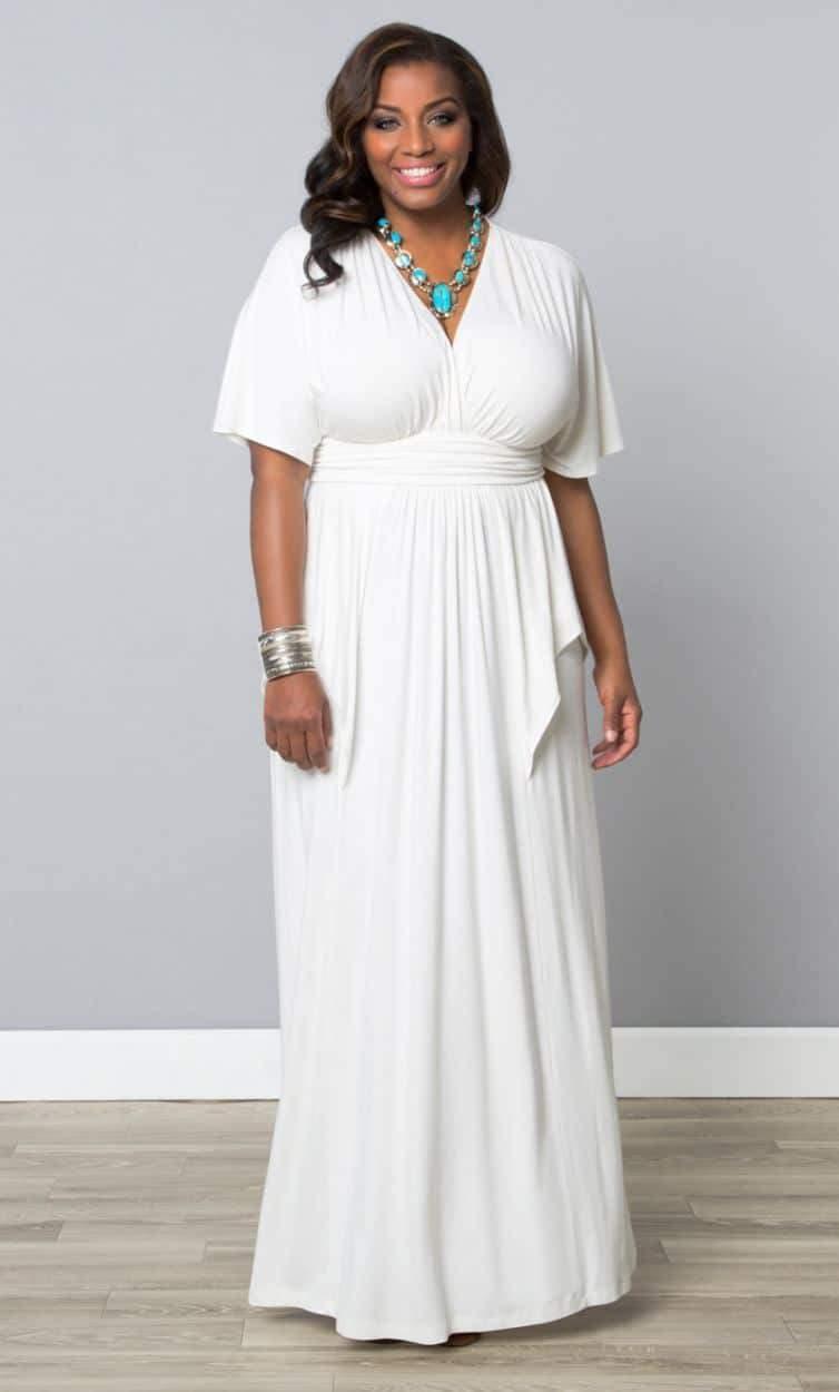 Plus Size Retailer Kiyonna Maxi Dress