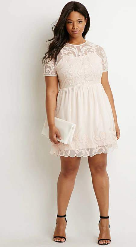 Forever 21 Plus Size Lace Dress