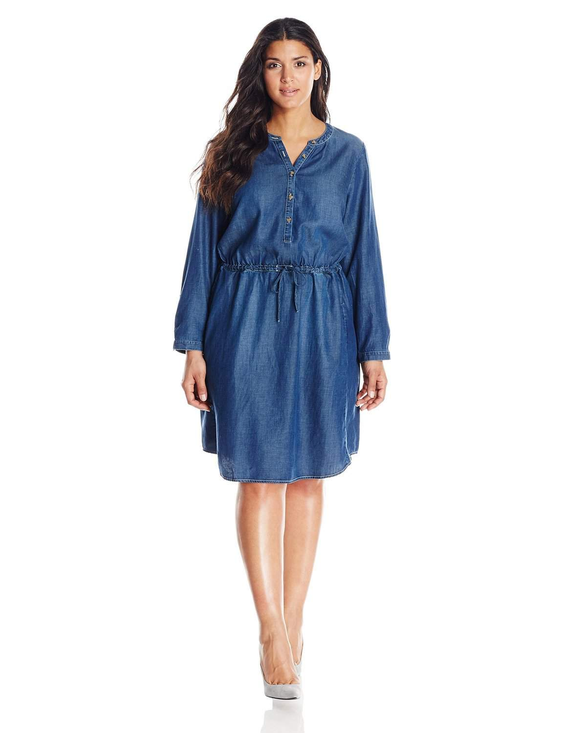 The Plus Size Denim Dress and 10 Picks for You On TheCurvyFashionista.com