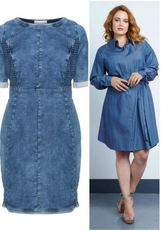 The Plus Size Denim Dress and 10 Picks for You On TheCurvyFashionista.com