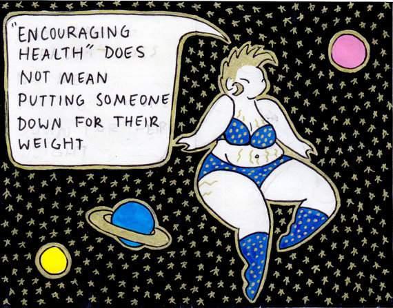 Plus Size Art: Cosmic Cuties Against Fatphobia Zine on TheCuryFashionista.com