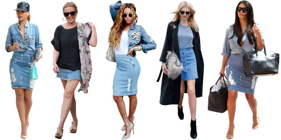 Denim SKirt Inspiration from Elle Magazine