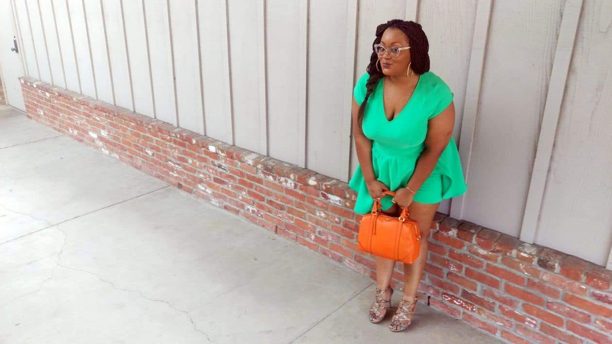 My Style: Almost Green with Envy in Monif C Plus Sizes on The Curvy Fashionista