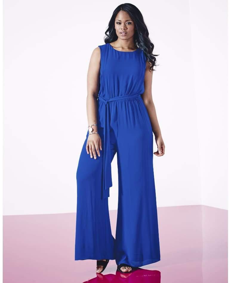 Simply Be Blue Plus Size Jumpsuit
